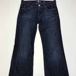 7 For All Mankind DOJO Dark Wash Blue Stitch